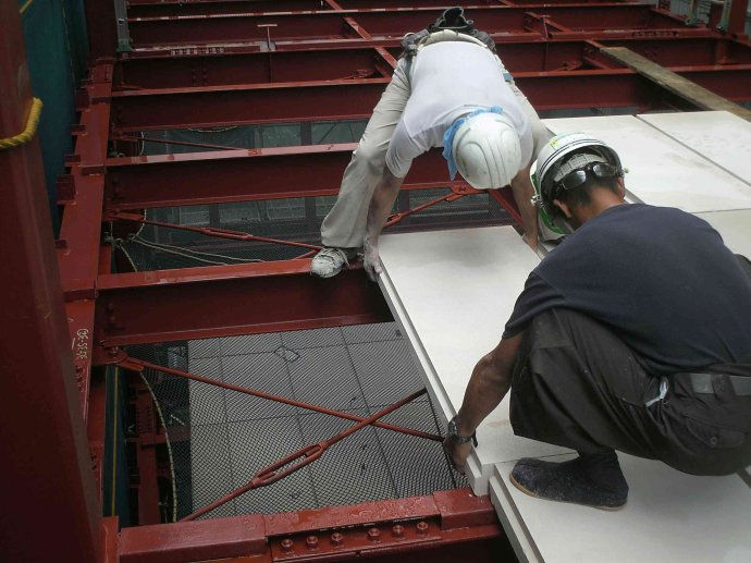 蒸压加气混凝土板楼层板施工